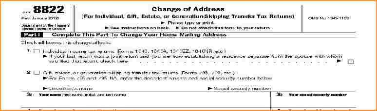 irs change of address | Questionnaire Template