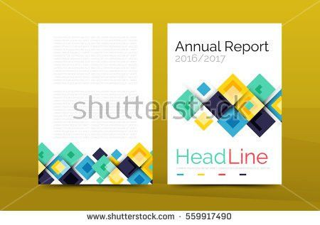 Geometric Brochure Front Page Business Annual Stock Illustration ...