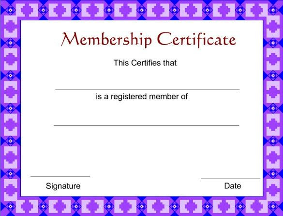 Membership Certificate Template – 15+ Free Word, PDF Documents ...