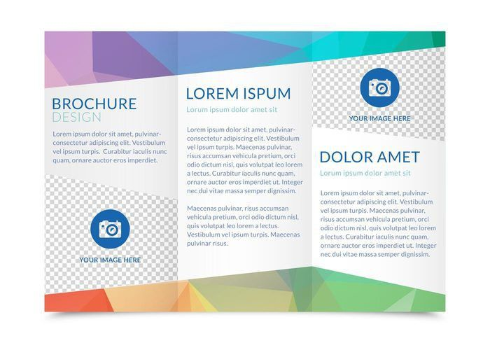 Free Tri Fold Brochure Vector Template | Graphic Design ...