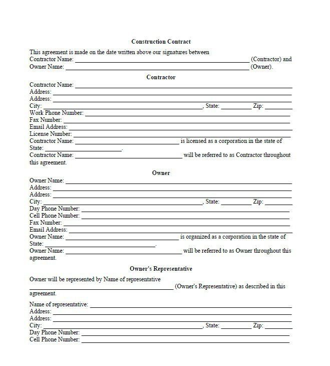40 Great Contract Templates (Employment, Construction, Photography ...
