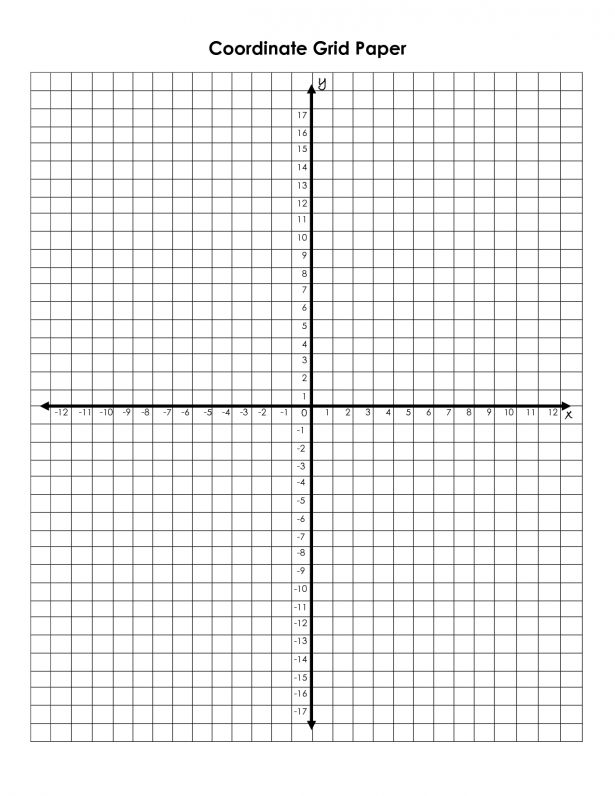 Math : Coordinate Plane Clipart Kid Grid With Domain 4 To And ...