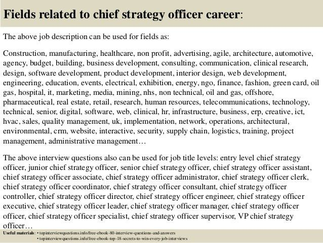 Top 10 chief strategy officer interview questions and answers