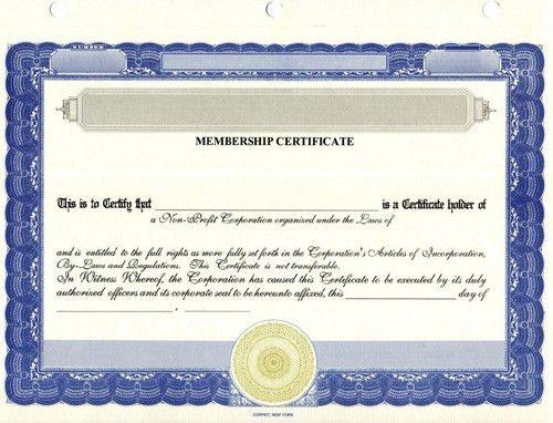 Certificates for Membership & Non-Profit Organizations