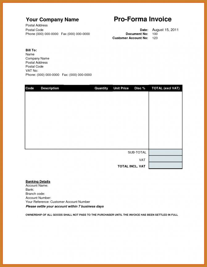 Proforma Invoice Template | Notary Letter