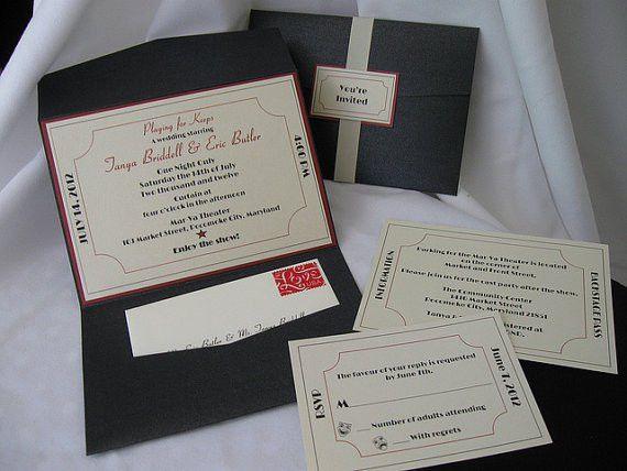 Ticket to Broadway Wedding Invitation by invitesbythisandthat ...