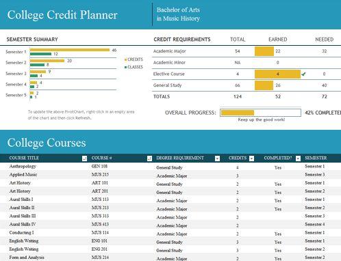 Class schedule - Office Templates
