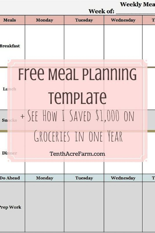 Best 25+ Meal planning templates ideas on Pinterest | Menu ...