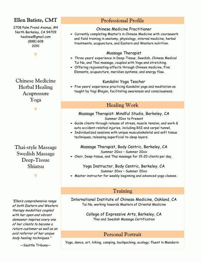 licensed massage therapist resume. therapist resume resume cv ...