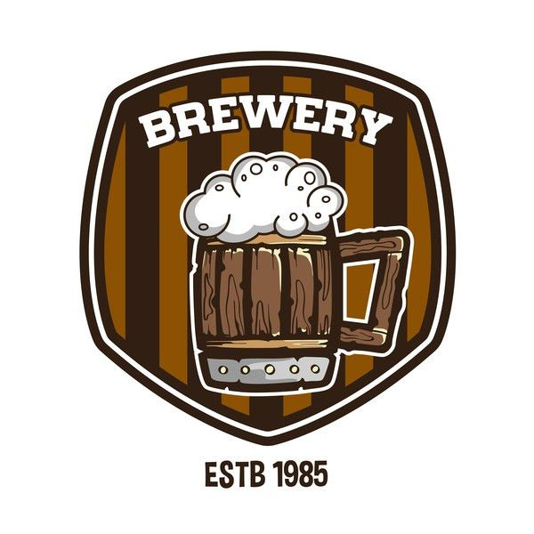 beer label and brewery emblem vector - Vector Food, Vector Label ...