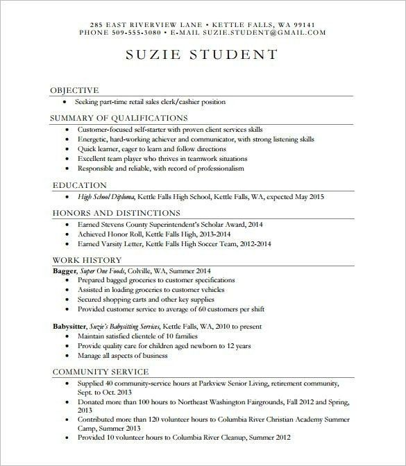 High School Resumes Templates - Best Resume Collection