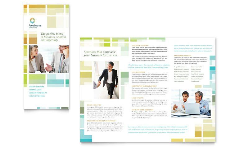 Business Solutions Consultant Tri Fold Brochure Template - Word ...