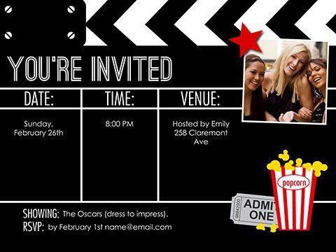 Movie Night - Invite - Smilebox