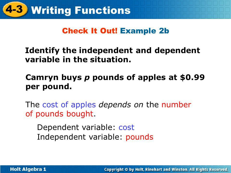 1.3 Independent and Dependent Variables - ppt video online download