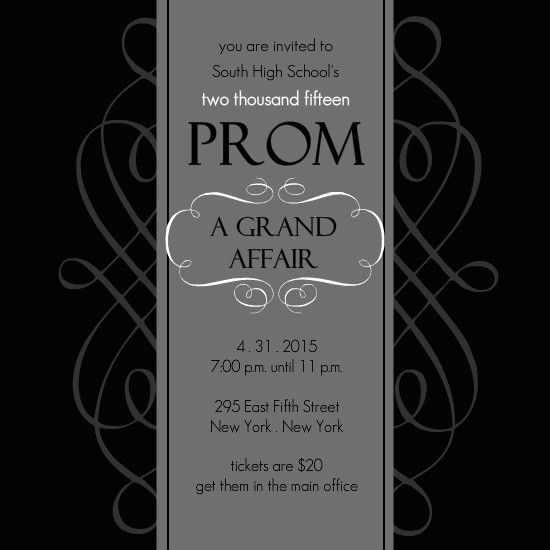 Prom Invitation Ideas Template | Best Template Collection