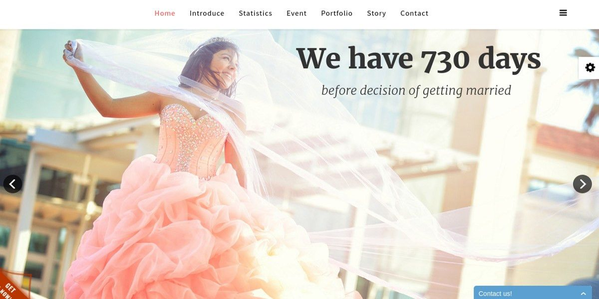 12+ Free Wedding Website Themes & Templates | Free & Premium Templates