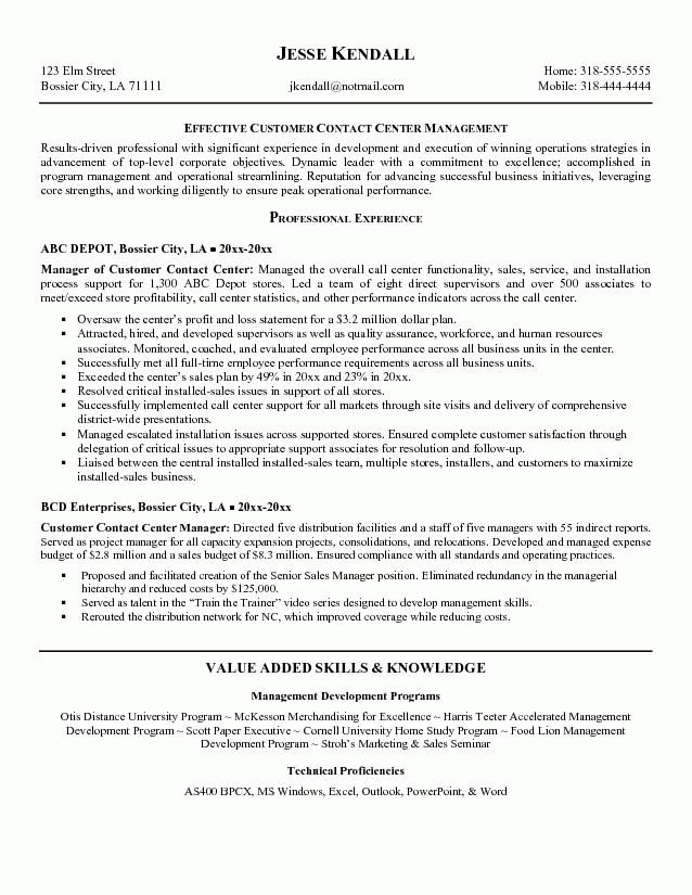 customer service inbound call center resume
