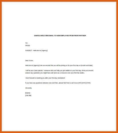 welcome email for new hire | apa examples