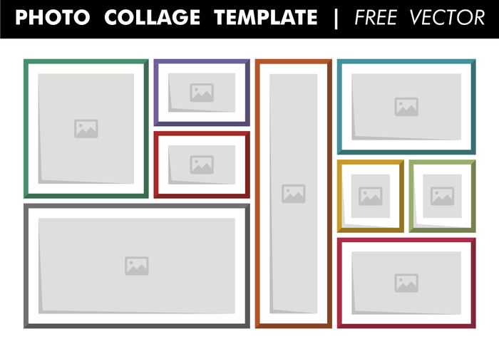 Photo Collage Template Free Vector - Download Free Vector Art ...