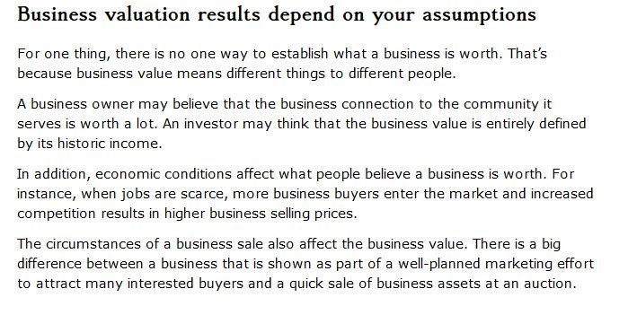 Defining Your Business Valuation – Tiffany Group Real Estate Advisors