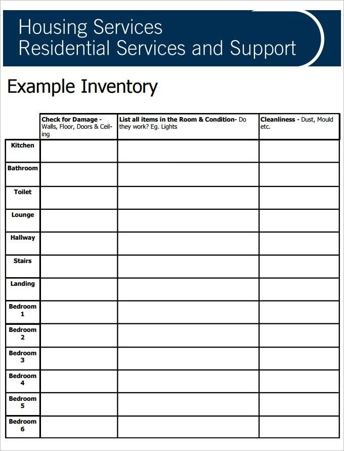 Sample Tenancy Inventory Template   8 Free PDF Documents Download .  Free Landlord Inventory Template