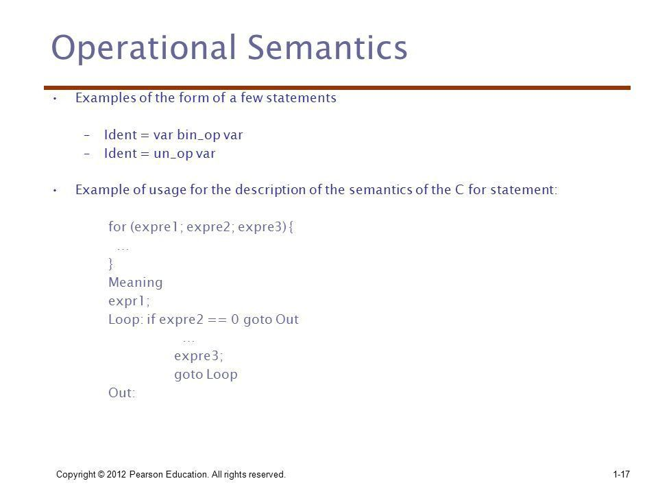 Chapter 3 Part II Describing Syntax and Semantics. - ppt download