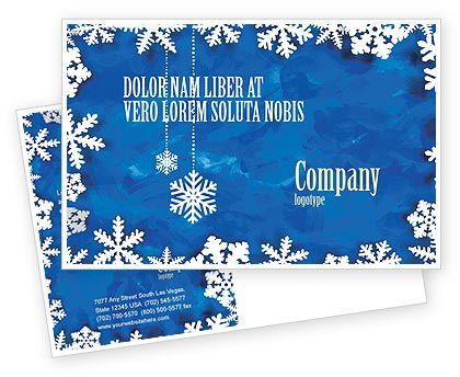 Winter Theme Postcard Template in Microsoft Word, Adobe InDesign ...