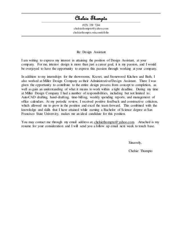 General Cover Letter and Resume