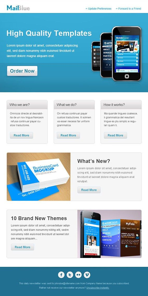 25+ HTML and PSD Email Newsletters - PSD, Vector EPS, JPG Download ...