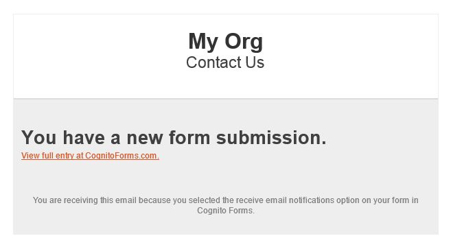 Notification emails - Cognito Forms Support
