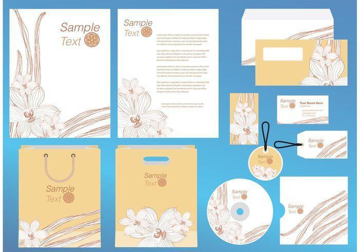 Vanilla Flower Company Profile Template Vector - Download Free ...