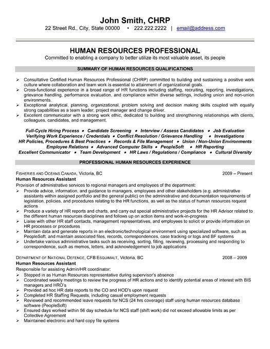 15 best Human Resources (HR) Resume Templates & Samples images on ...