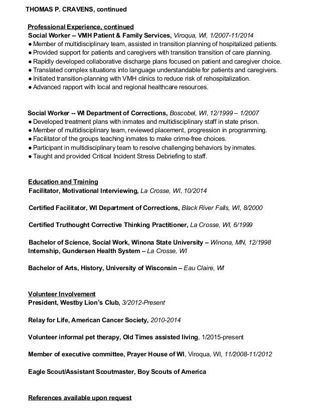 Probation officer and correctional treatment specialist job title docs - incident facilitator resume