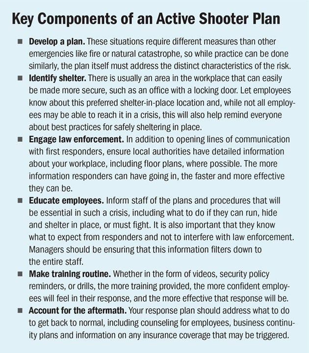 Risk Management – Preparing for an Active Shooter Incident