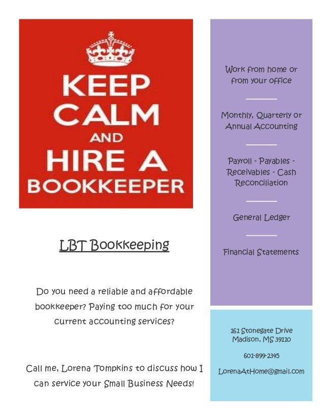 LBT Bookkeeping Flyer