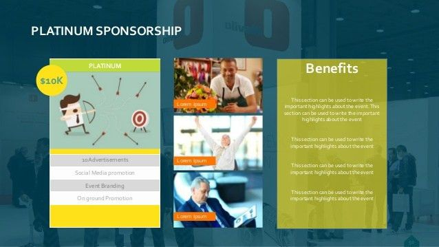 Events fundraising & Sponsorship template