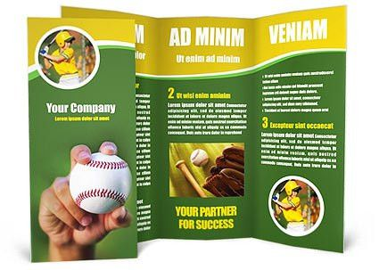 Baseball Brochure Template & Design ID 0000000242 - SmileTemplates.com