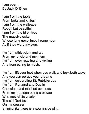I Am From Poem Template | peerpex