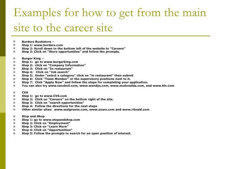 Online Job Application Workshop