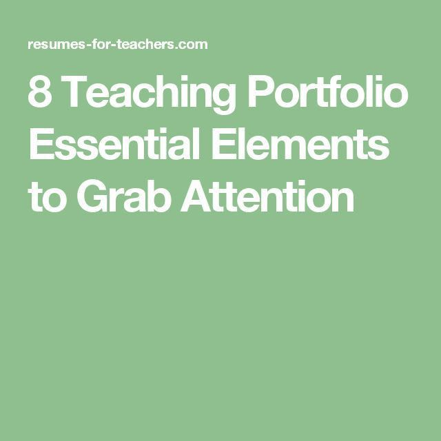 25+ best Teaching portfolio ideas on Pinterest   Teacher portfolio ...
