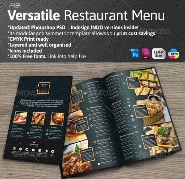 40+ PSD & InDesign Food Menu Templates for Restaurants ...