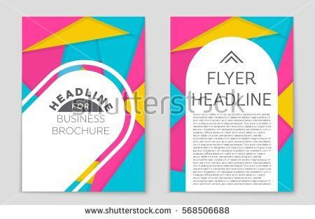 Brochure Cover Background Design Vector Poster Stock Vector ...