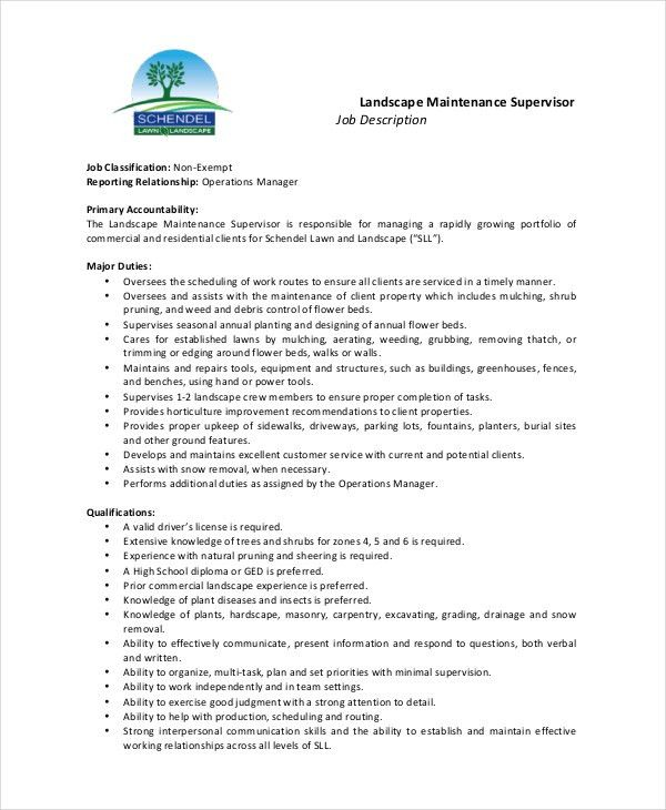 Maintenance Job Description - 9+ Free PDF Documents Download ...