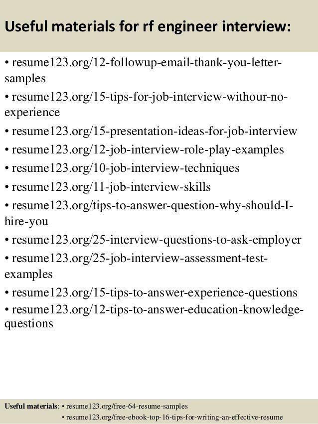 sample resume for rf engineer sample customer service resume ...