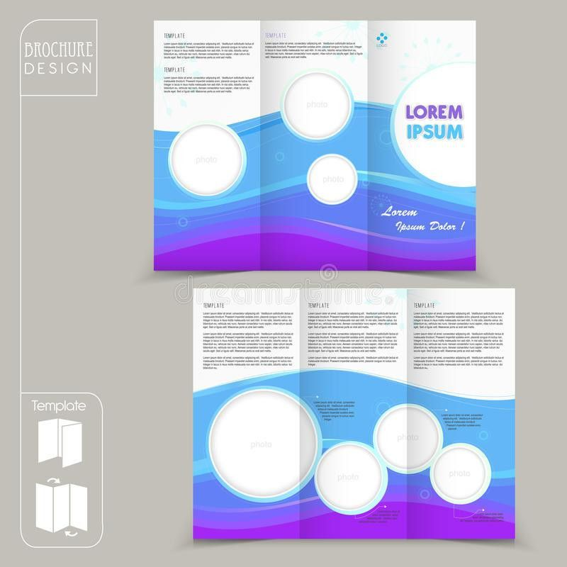 Modern Tri-fold Template For Business Advertising Brochure Stock ...