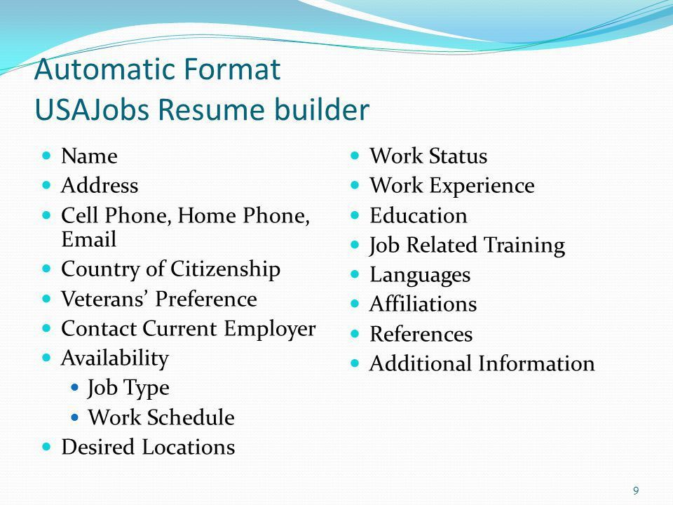 Federal Resume Writing Workshop - ppt video online download