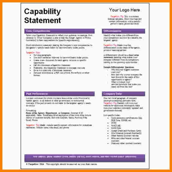 10+ capability statement template word | Statement Information