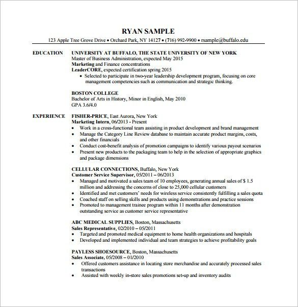 Business Administration Resume | haadyaooverbayresort.com