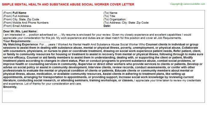 Substance Abuse Recovery Coach Cover Letters