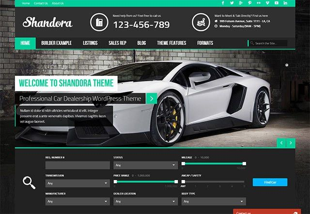 15+ Best Car Dealer WordPress Themes 2017 - aThemes